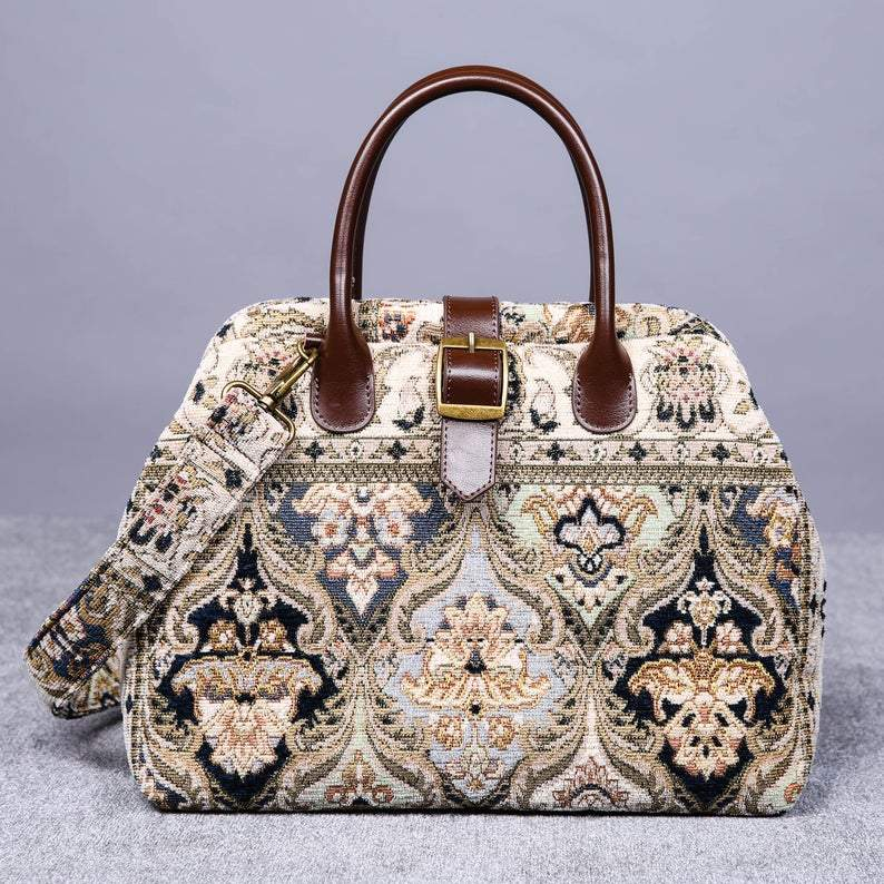 Carpet Purse<br>Golden Age Navy