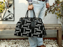Load image into Gallery viewer, Men's Carpet Bag<br>Geometric Grey