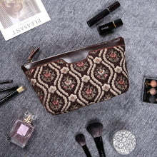 Load image into Gallery viewer, Carpet Makeup Bag<br>Traditional Coffee