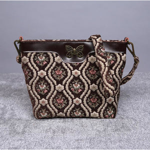 Carpet Crossbody Bag<br>Traditional Coffee