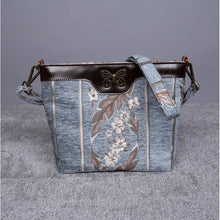 Load image into Gallery viewer, Carpet Crossbody Bag<br>Victorian Stripes Blue