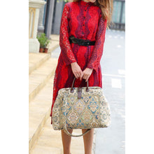 Load image into Gallery viewer, Mary Poppins Carpet Bag<br>Golden Age Blue