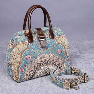 Carpet Purse<br>Oriental Blue