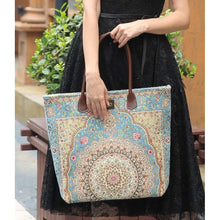 Load image into Gallery viewer, Carpet Tote<br>Oriental Blue