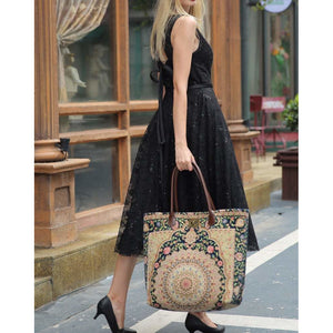 Carpet Tote<br>Oriental Navy