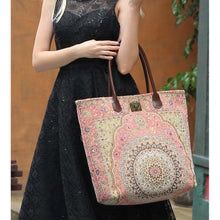 Load image into Gallery viewer, Carpet Tote<br>Oriental Pink