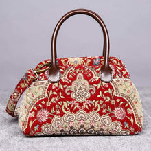 Load image into Gallery viewer, Carpet Handbag<br>Oriental Wine
