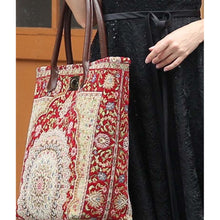 Load image into Gallery viewer, Carpet Tote<br>Oriental Wine