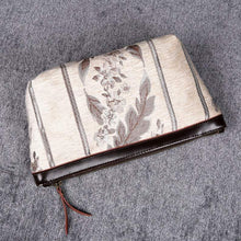 Load image into Gallery viewer, Carpet Makeup Bag<br>Victorian Stripes Cream