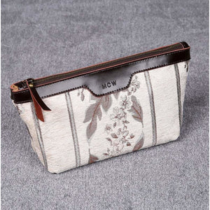 Carpet Makeup Bag<br>Victorian Stripes Cream