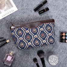 Load image into Gallery viewer, Carpet Clutch & Wristlet<br>Traditional Blue