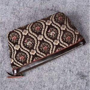 Carpet Makeup Bag<br>Traditional Coffee