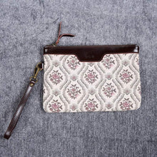 Load image into Gallery viewer, Carpet Clutch & Wristlet<br>Traditional Cream