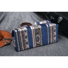 Load image into Gallery viewer, Carpet Purse<br>Victorian Stripes Navy