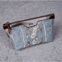 Load image into Gallery viewer, Carpet Clutch & Wristlet<br>Victorian Stripes Blue