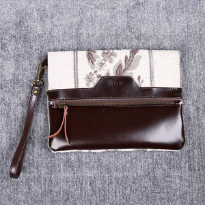 Carpet Clutch & Wristlet<br>Victorian Stripes Cream
