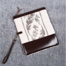 Load image into Gallery viewer, Carpet Clutch & Wristlet<br>Victorian Stripes Cream