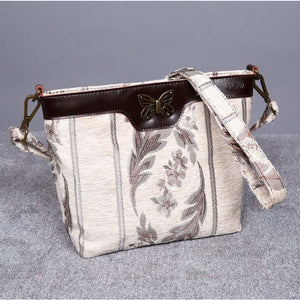 Carpet Crossbody Bag<br>Victorian Stripes Cream