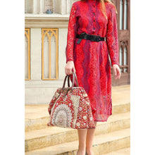 Load image into Gallery viewer, Mary Poppins Carpet Bag<br>Oriental Wine