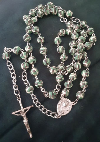 Military Style Rosary, Chaplet, Prayer Beads