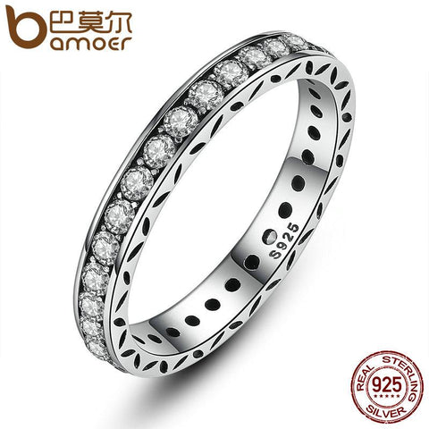BAMOER 925 Sterling Silver Ring Luxury Jewelry