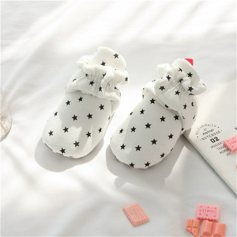 Star Print Newborn Baby Socks/Shoes