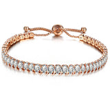 Cubic Zirconia Adjustable Tennis Bracelet & Bangle
