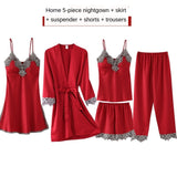 5 Pieces Set Women Pajamas Set