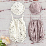 Girls Summer Outfit With Matched Cap Set