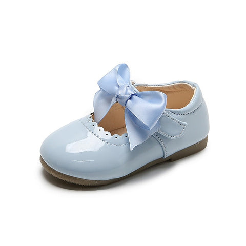 Cute Bow Patent Leather Princess Shoes 1-6T