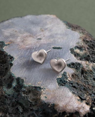 Danon Heart Stud Earrings