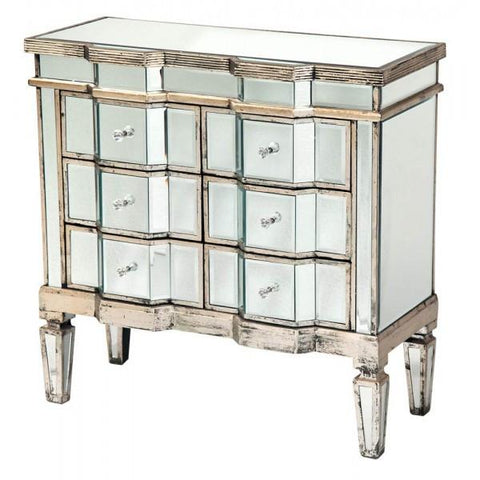 Antique Mirrored Chest of drawers