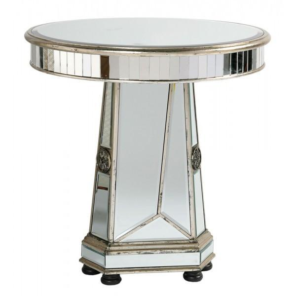 Antique Silver mirrored table