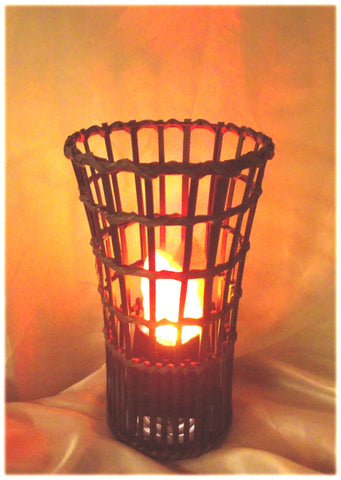 Bamboo Tower Fire Lamp