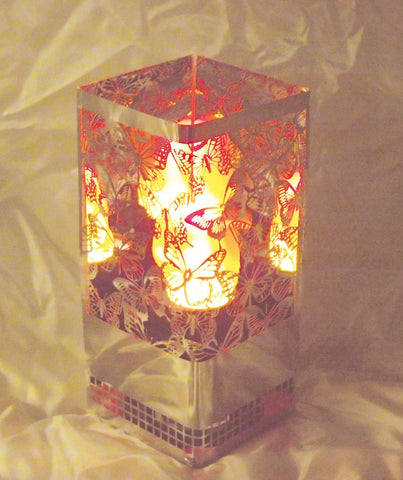 Square Butterfly Brazier Fire Lamp