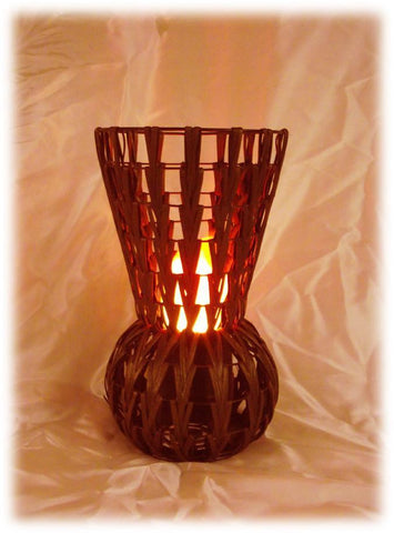Chevron High Vase Fire Lamp