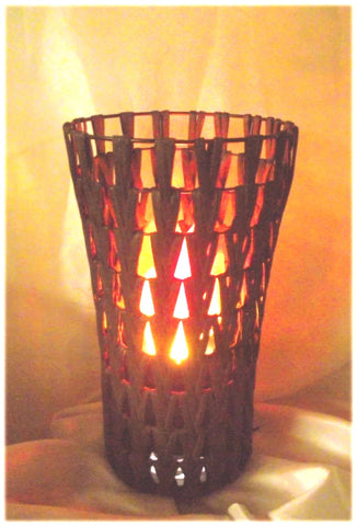 Chevron Tower Fire Lamp