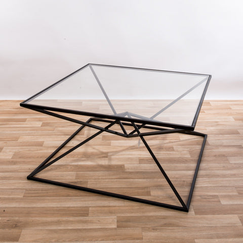 Gin Shu Tables - Black Parisienne Metal Coffee Table (Large or Small)