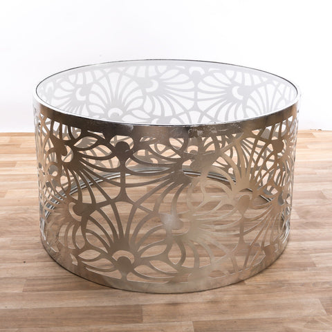 Gin Shu Tables - Gold Gilt Leaf Parisienne Metal Coffee Table