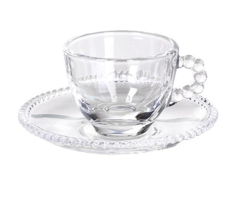 Set of 4 Bobble Espresso Cup and Saucer