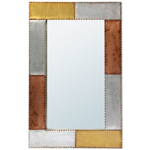Aluminium & Copper Decorative Wall Bedroom or Hall Mirror
