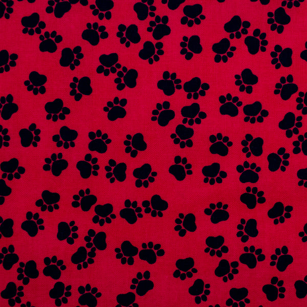 Red Paws Dog Bandana