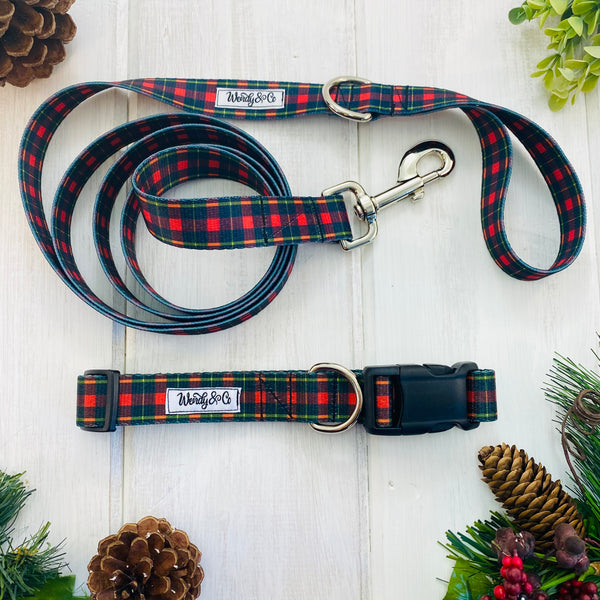 Red & Black Check Leash