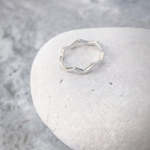 Load image into Gallery viewer, Sterling Silver Wave Ring