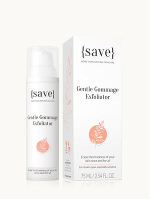 Gentle Gommage Exfoliator exfoliators {save} more than natural skincare