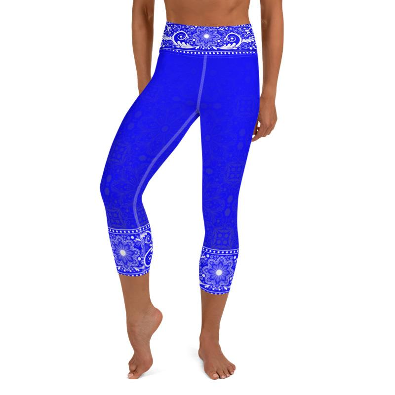 Jhana High Waist Women's Yoga Capri Leggings