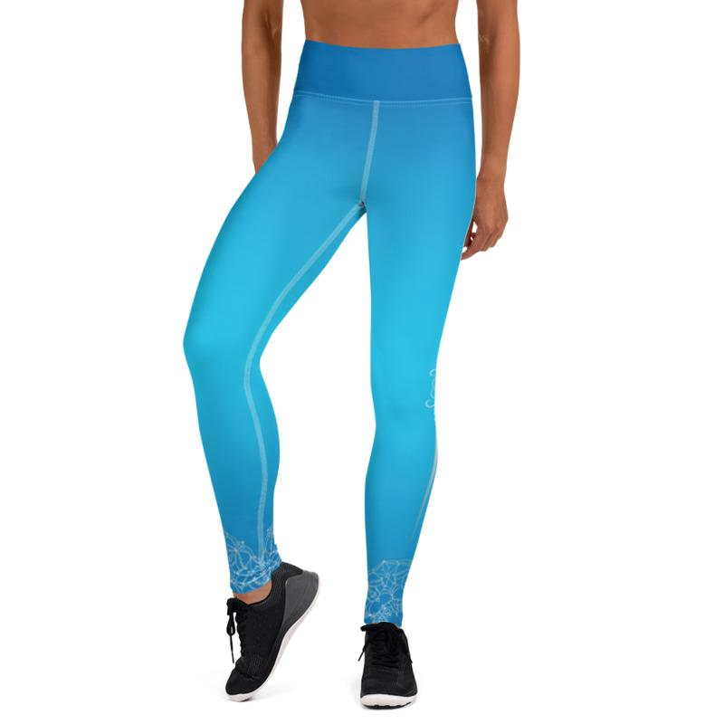 Bodhi Blue Womens High Waist Yoga Leggings