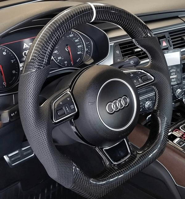 AUDI A3/4/5/6/7 CARBON STEERING WHEEL  2013-2016