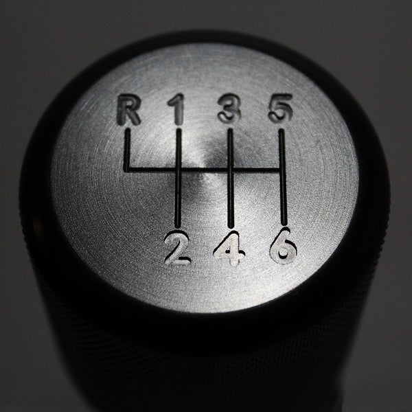 "BMW SHIFT KNOB - WEIGHTED BILLET SHIFT KNOB - BLACK - (""6-SPD"")"