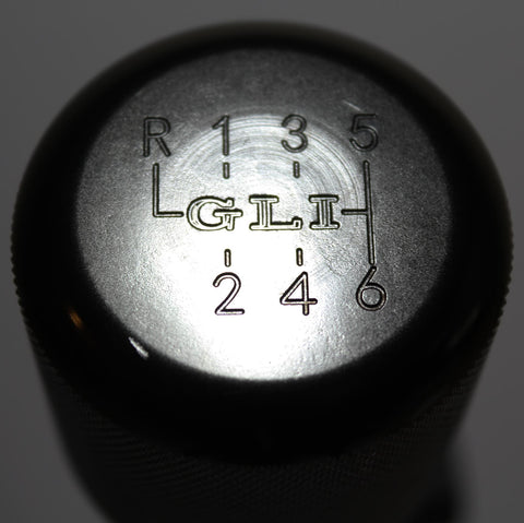 "Shift Knobs - EURO IMPULSE WEIGHTED BILLET SHIFT KNOB- BLACK- (6-SPD+""GLI"") W/ ADAPTER"